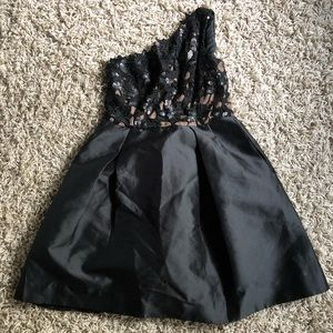 Black and Tan evening dress